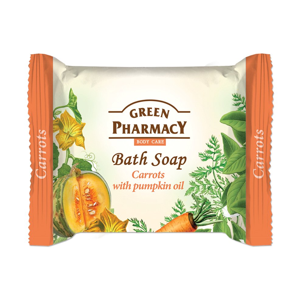 86806 bath soap carrot with pampkin oil
