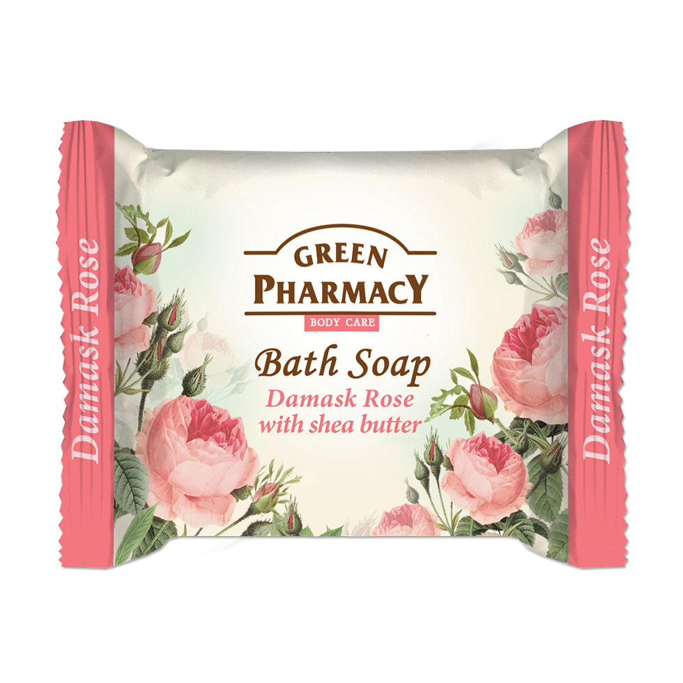 86802 bath soap damask rose with shea butter
